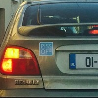 This driver is pretty clear about their feelings for Irish Water
