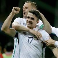 Another beautiful assist from new man David McGoldrick restores Ireland's lead