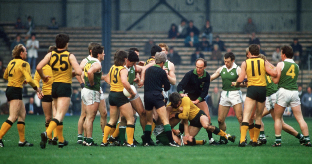 27 tough and intense pics from the International Rules down through the years