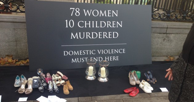 There's a pretty moving display outside Leinster House today. Here's what it's about...
