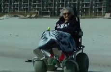 "100-year-old woman sees the ocean for first time, says ""it's cold"""