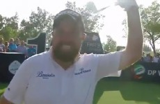 Shane Lowry just hit his first professional hole-in-one