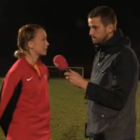 Not a bad effort! Stephanie Roche asked to replicate that goal on French TV