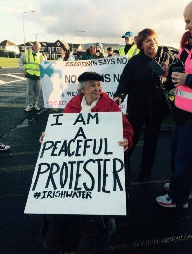 People marched against water charges in Waterford and Jobstown today
