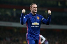 Wayne Rooney has doubled United's lead at the Emirates