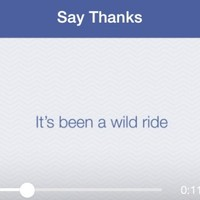 Facebook's new 'special video' will thank your friends for a 'wild ride'