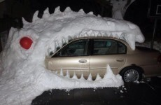 This woman is putting New York's record snowfall to very creative use
