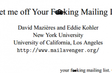 Dud paper called Get Me Off Your F**king Mailing List accepted by academic journal