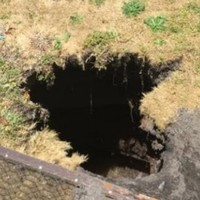 Woman swallowed by sinkhole while hanging out her washing