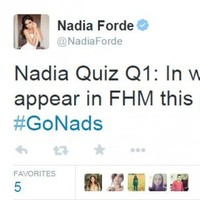 The hashtag being used to support Nadia Forde on Twitter will make your immature self chuckle