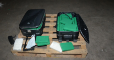 €3 million worth of cocaine has been seized --- packed into two mid-size suitcases