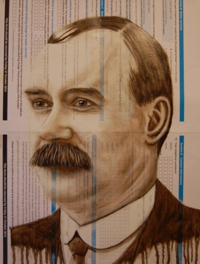 Check out this amazing portrait of James Connolly ... on an Irish Water registration pack