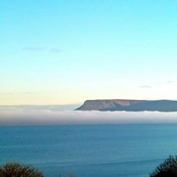 Crisp and clear: Benbulben looked stunning in the early morning fog today