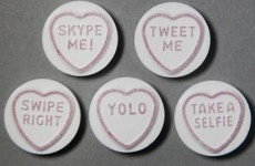 Love Hearts are being updated with some very modern phrases altogether