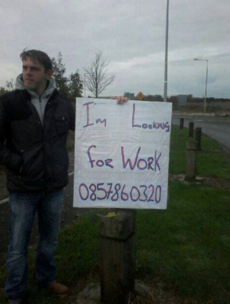 Can you help? ... This Balbriggan man is taking a novel approach to job hunting