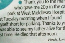 This heartbreaking letter shows the difference one small good deed can make