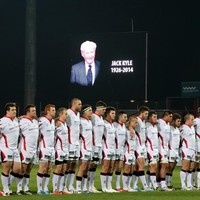 Ulster team pay their respect to Irish rugby giant Jack Kyle at Thomond Park