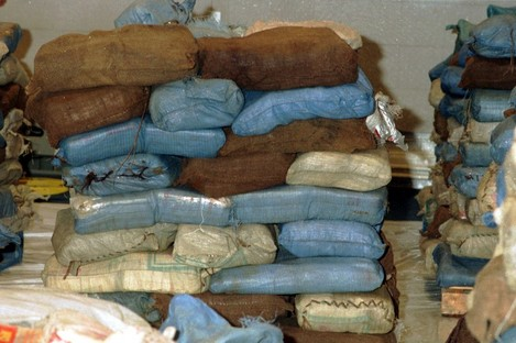 File photo of a drugs seizure