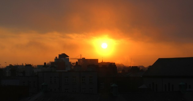 This morning's hazy sunrise was pretty stunning