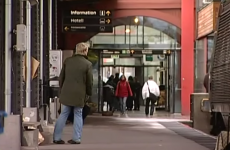 This poor guy was caught on TV news JUST missing his train