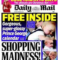 The Daily Mail is giving away a 'Prince George 2015 calendar' and the internet is horrified