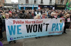 'We won't pay': Protesters gather outside Irish Water HQ