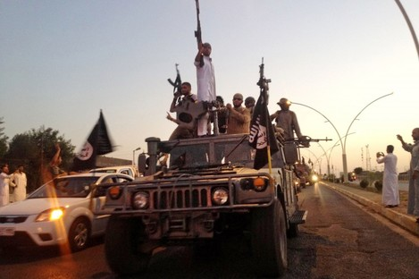 File photo of Islamic State fighters.