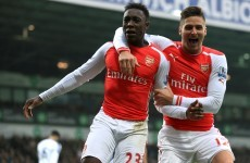 Some dodgy goalkeeping helps Danny Welbeck give Arsenal the lead