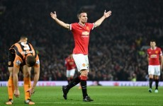 Robin van Persie finally scored for United today -- and it was worth the wait