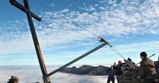 Resurrection: The five-metre cross on Carrauntoohil has been put back up