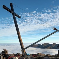 Resurrection: The five-metre cross on Carrauntoohil has been put back up