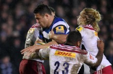 Slammin' Sam Burgess was unleashed onto the sport of rugby union on Friday