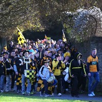 Austin Stacks fans took over Cork before the Munster club football final