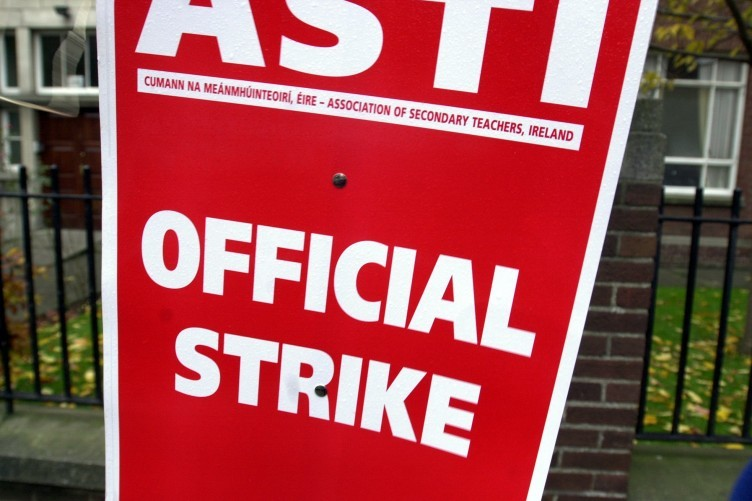 A placard from the teachers' strike in 2000