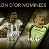 Neuer joins Ronaldo and Messi as three Ballon d'Or finalists