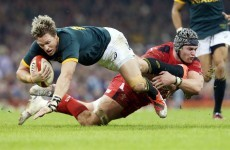 Jean De Villiers is facing a real fight to be fit for the World Cup next year