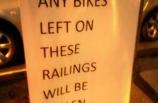 Cyclists beware: Vaguely threatening sign spotted in Dublin