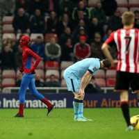 'Spiderman' made an appearance during tonight's Sunderland-Man City clash