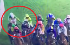 Davy Russell borrowed another jockey's whip in the middle of a race