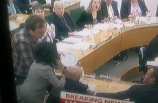 WATCH: Rupert Murdoch pied by protester whilst giving evidence to MPs