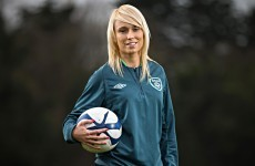 Danger here! Stephanie Roche's goal gets the George Hamilton treatment