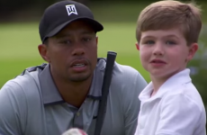 Three-year-old one-handed golfer meets Tiger Woods, thinks he's 'pretty good' at golf
