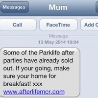 Festival fined for 'distressing' texts pretending to be people's mums