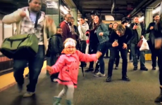 Little girl inspires joyous dance party in New York subway