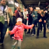 Little girl inspires joyous dance party in New York subway