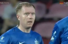 He may be retired, but Paul Scholes can still make a fool of Jens Lehmann