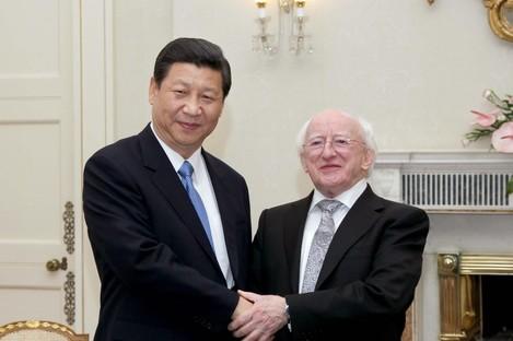 Xi Jingping met Michael D Higgins in 2012 here in Ireland