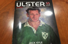 Ulster's match programme features a superb Jack Kyle portrait on the cover
