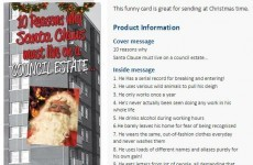 UK card company withdraw 'council estate Santa' card after online backlash