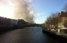 Several units of Dublin Fire Brigade tackling blaze on James' Street
